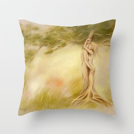 Mystic Tree - Symbolism Throw Pillow