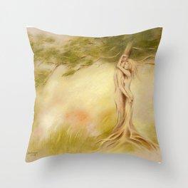 Mystic Tree - Symbolism Throw Pillow