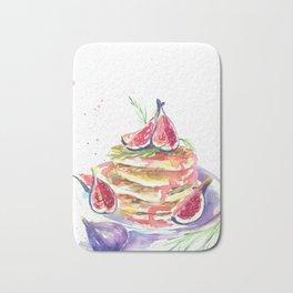 Figs and pancakes Bath Mat