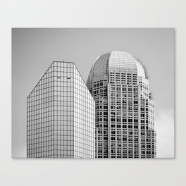 Two Giants BW Canvas Print