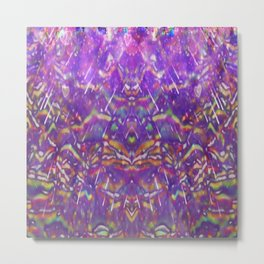 Waves of The Fuschia Psychedelic Design Metal Print