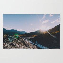Glacial Meltwater Sunrise - Kenai Fjords National Park Rug