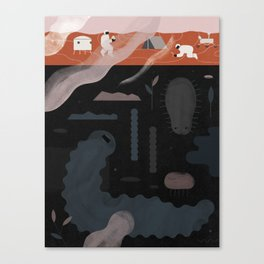 """""""Why Discovering Martians Could Be Disappointing"""" by Jing Wei for Nautilus Canvas Print"""
