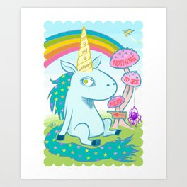 THIS IS NOT A UNICORN (Nothing to see here...) Art Print