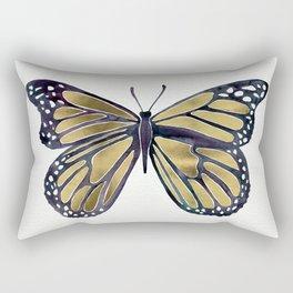 Gold Butterfly Rectangular Pillow