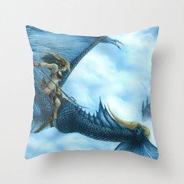 Entre las nubes Throw Pillow