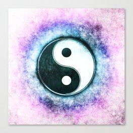 Yin Yang - Blue Moon Corona Canvas Print