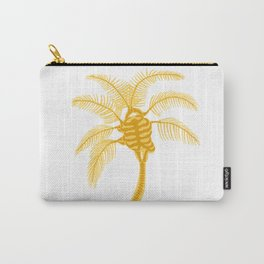 Skeleton Palm Tree White Carry-All Pouch