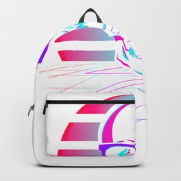 Synth Pop 80s & 90s Aesthetic Skull. Retro Vaporwave design print Backpack