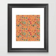 Sewing tools - naranja Framed Art Print