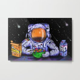 Astronaut's Breakfast Metal Print