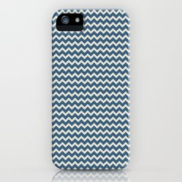 Blue & Linen White Chevron Pattern Inspired by 2020 Color of the Year Chinese Porcelain PPG1160-6 iPhone Case