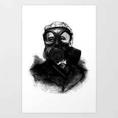 Gas mask fetish Art Print