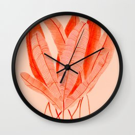 Feathered Palm Fronds Wall Clock