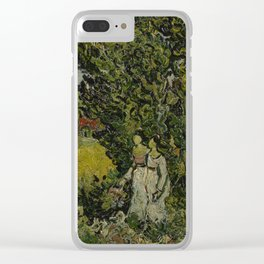 Cypresses and Two Women Clear iPhone Case