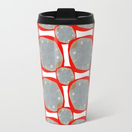 Red Organic Rings Travel Mug