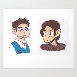 Sam & Cas vs. The World. Art Print