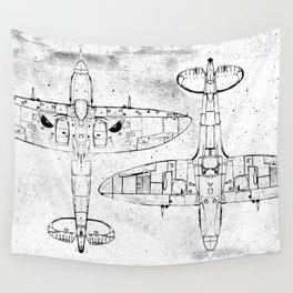 Spitfire Mk. XIV (Light) Wall Tapestry