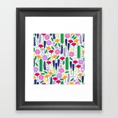 Mt. Rainier's Wildflowers Framed Art Print