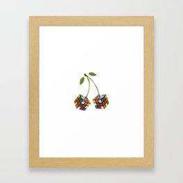 Cherry rubik Framed Art Print