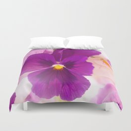 Flower Bouquet in Purple and Pink Colors  #decor #society6 #buyart Duvet Cover