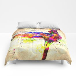 Hummingbird Grunge Comforters