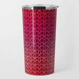 Pattern on burgundy background for Valentine's Day Travel Mug