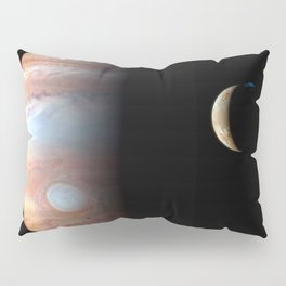 Jupiter and its Volcanic moon Io Deep Space Photograph Pillow Sham