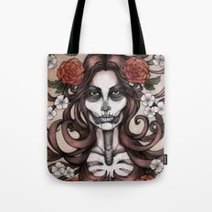 Blossoming Day of the Dead Tote Bag