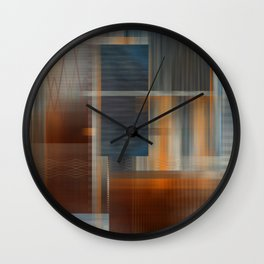 Uninhabited Mosaic (Zig Zag) Wall Clock