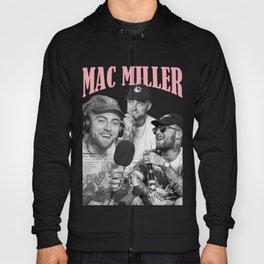 Mac Miller Rap Static Mixer Art Print 4 Black and White Hoody