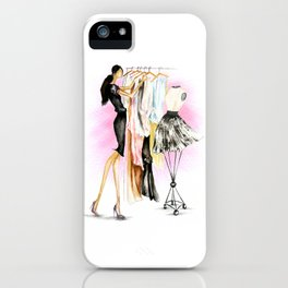 Dressing Up. iPhone Case