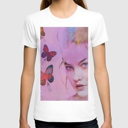 Isabelle and butterflies fork T-shirt