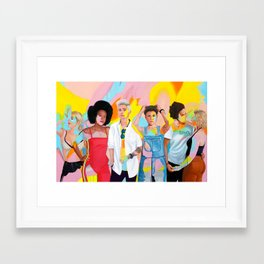 Womxn Framed Art Print