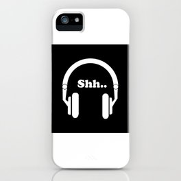 Headphones and music iPhone Case