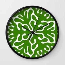 Seaweed Hexagon (Green) Wall Clock