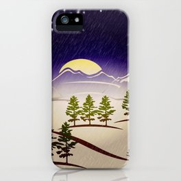 Background christmas snow figure iPhone Case