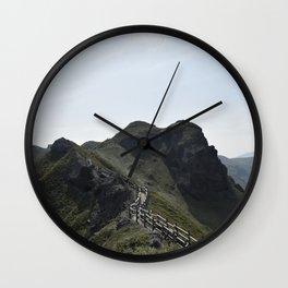 Japanese Seaside Mountain Trail Wall Clock