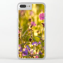Summer Dream Wildflowers Meadow #decor #society6 Clear iPhone Case