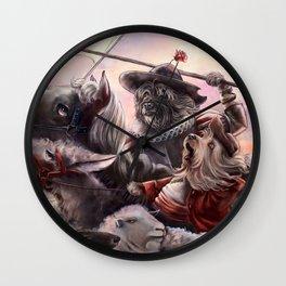 Miguel Dog Cervantes Wall Clock