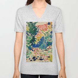 Landscape at Collioure - Henri Matisse - Exhibition Poster Unisex V-Neck