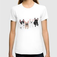 frenchie T-shirts featuring Frenchie by Tomoko K