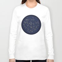 constellations Long Sleeve T-shirts featuring Constellations by Cina Catteau