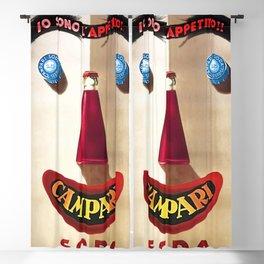 Alternate 1924 Campari Aperitif Bitters Blue Eyed Vermouth Vintage Advertising Food & Wine Poster Blackout Curtain