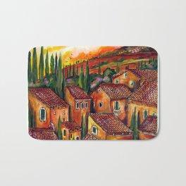 Tuscan Roofs Bath Mat