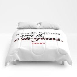 3 words. 8 letters. | gossip girl quote  Comforters
