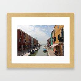 Burano in Venezia Framed Art Print