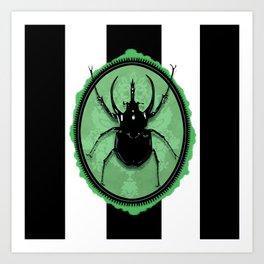 Juicy Beetle GREEN Art Print