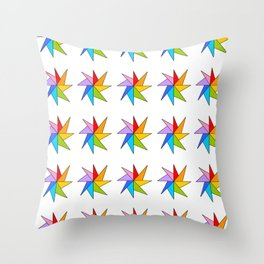 Stars 9- sky,light,rays,pointed,hope,estrella,mystical,spangled,gentle Throw Pillow
