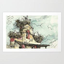 Camino de Santiago - Villar de Mazarife Art Print